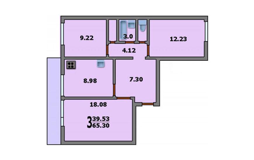 Дома серии и-522а: планировки, фото, характеристики.